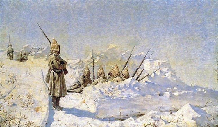 Snowy trenches (Russian position on the Shipka Pass), 1878 - 1881 - Vasily Vereshchagin