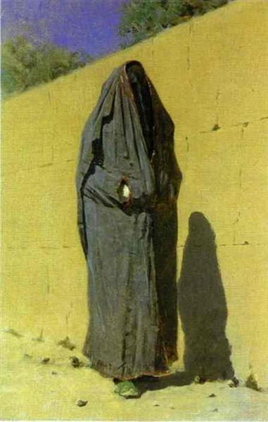 Узбецька жінка в Ташкенті, 1873 - Василь Верещагін
