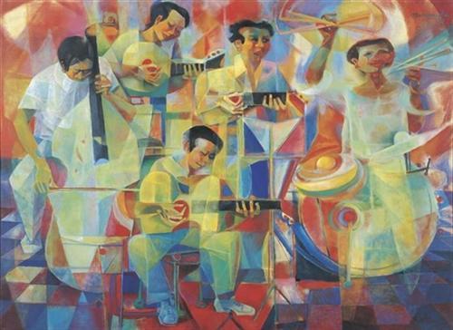 The musicians - Vicente Manansala