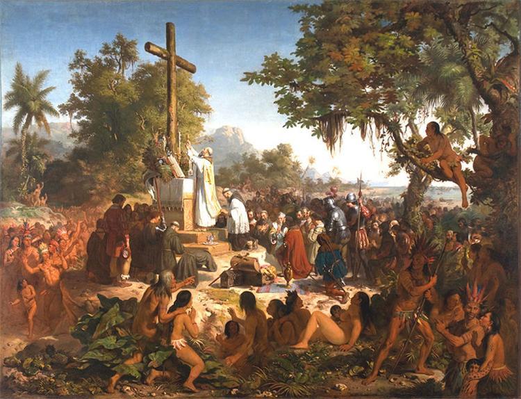 A primeira missa no Brasil, 1861 - Victor Meirelles