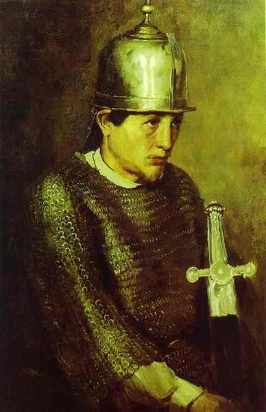 A knight, 1883 - Wiktor Michailowitsch Wasnezow