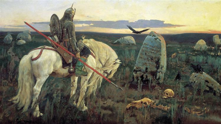 A Knight At the Crossroads, 1878 - Víktor Vasnetsov
