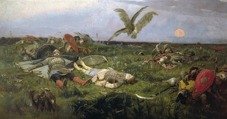 After Prince Igor`s Battle with the Polovtsy, 1880 - Viktor Vasnetsov