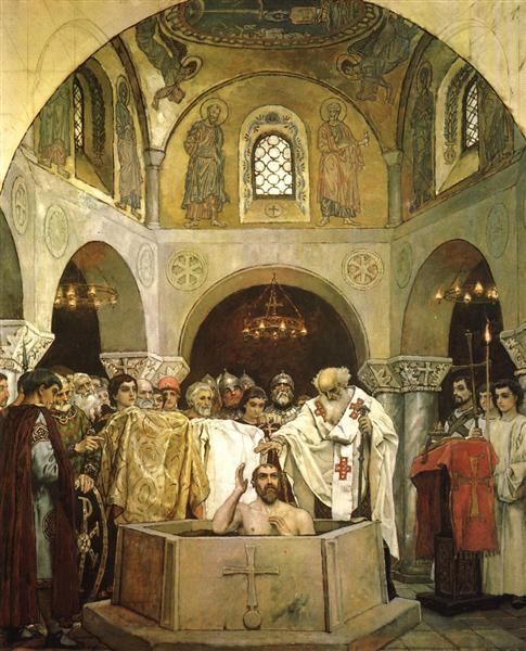 Baptism of Prince Vladimir, 1890 - Viktor Vasnetsov