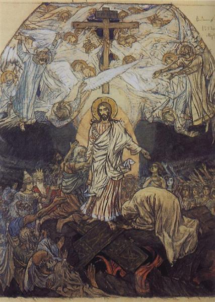 Descent into Hell, 1896 - 1904 - Viktor Vasnetsov