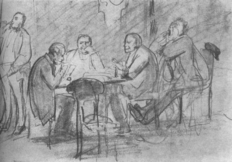 Game Preference (sketch) - Viktor Vasnetsov