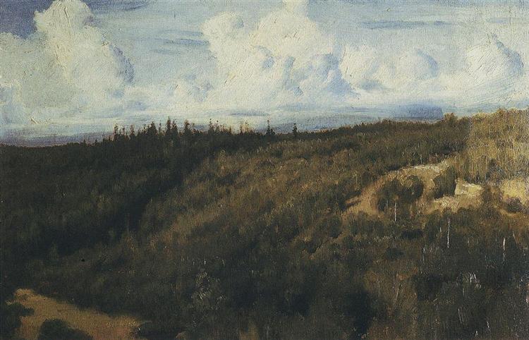 Landscape under Abramtzevo, 1881 - Viktor Vasnetsov