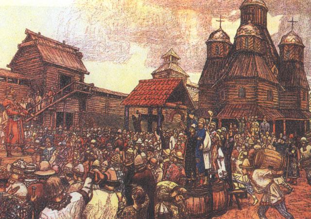 Veche in Pskov - Víktor Vasnetsov