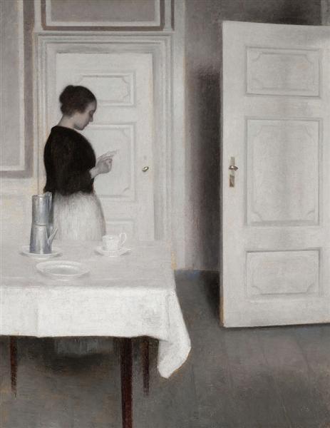 Ida Reading a Letter - Vilhelm Hammershoi