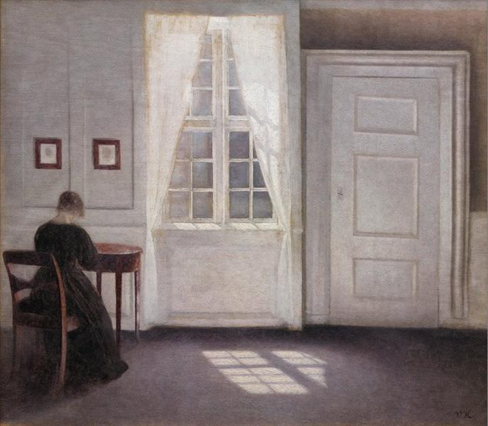Interior from Strandgade with Sunlight on the Floor, 1901 - Vilhelm Hammershoi