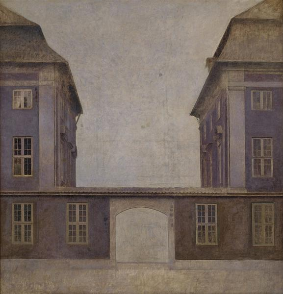 The Buildings of the Asiatic Company, seen from St. Annæ Street, 1902 - Vilhelm Hammershoi