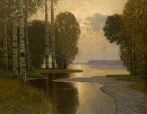 Landscape with Birch trees - Vilhelms Purvitis