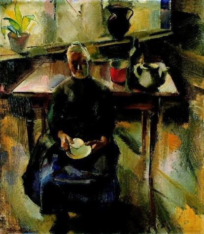Kitchen (In the Kitchen, Room Interior), 1927 - Vilmos Aba-Novak