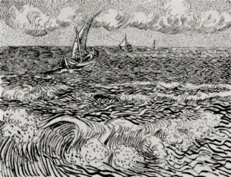 A Fishing Boat at Sea, 1888 - Vincent van Gogh