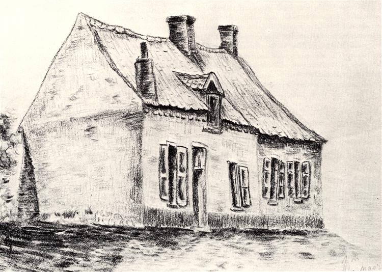 A house Magros, 1879 - Vincent van Gogh