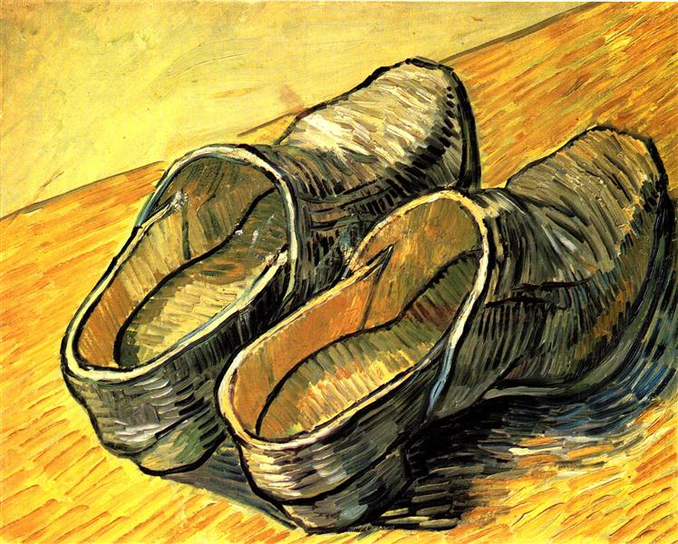 A Pair of Leather Clogs, 1888 - Vincent van Gogh