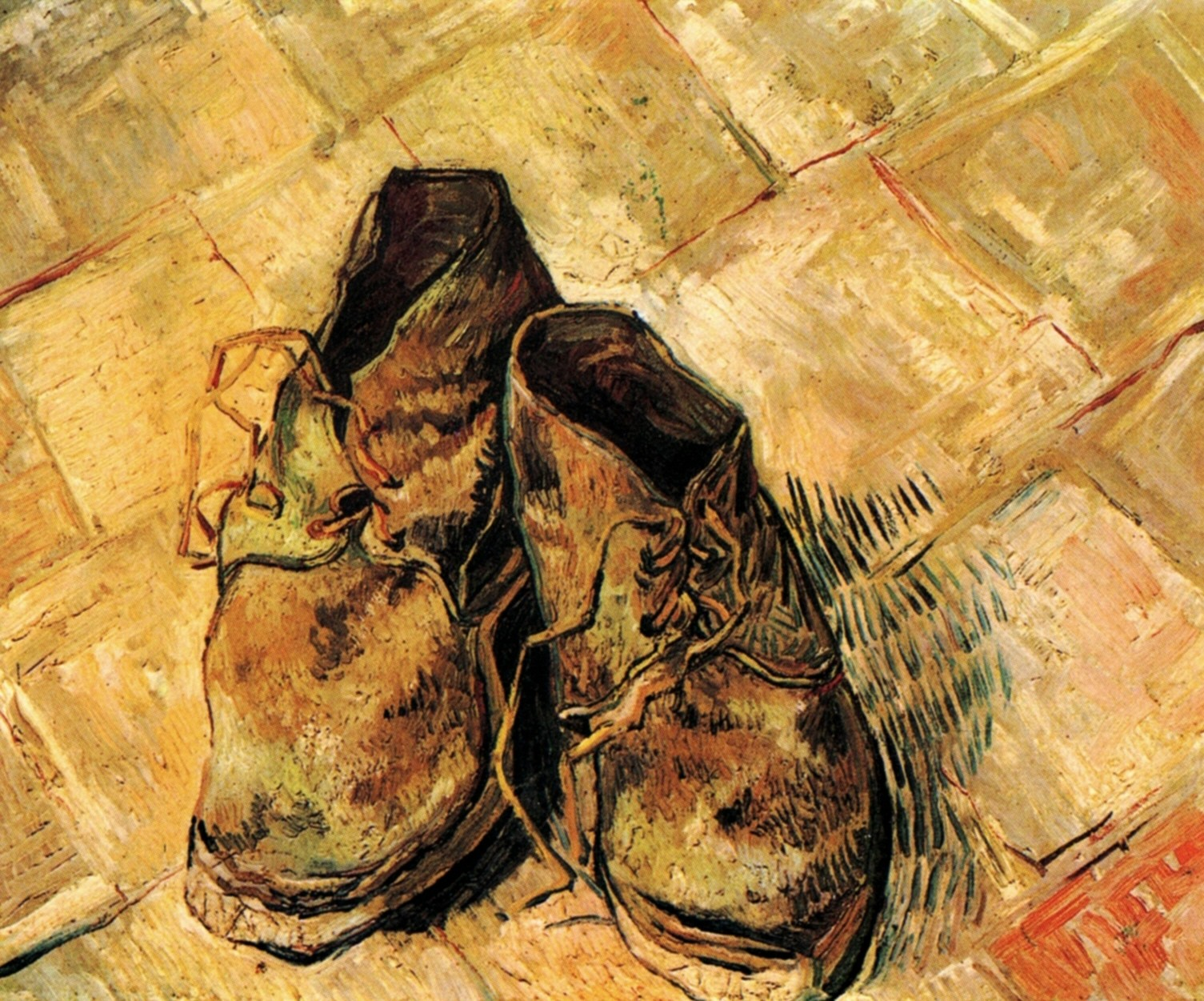 A Pair Of Shoes Painting Van Gogh