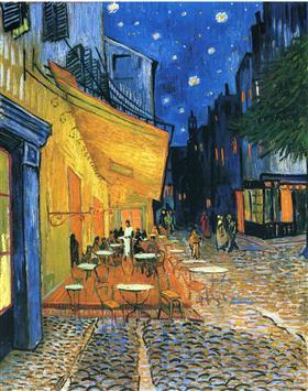 Terraza del café, Place du Forum, Arles, Vincent van Gogh