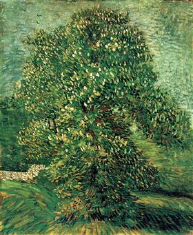 Árbol de castaña en el flor, Vincent van Gogh