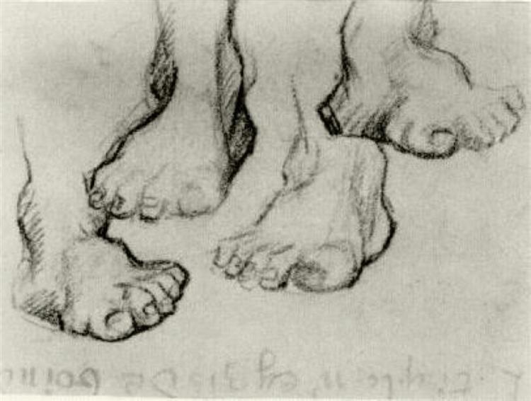 Four Sketches of a Foot, 1886 - Vincent van Gogh