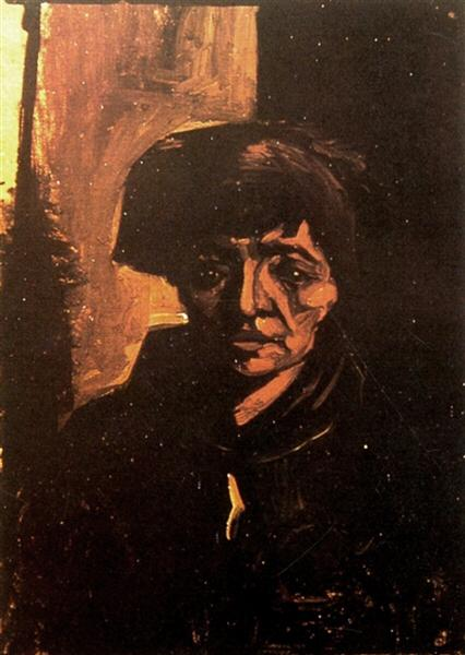 Head Of A Peasant Woman 1884 Vincent Van Gogh Wikiart Org