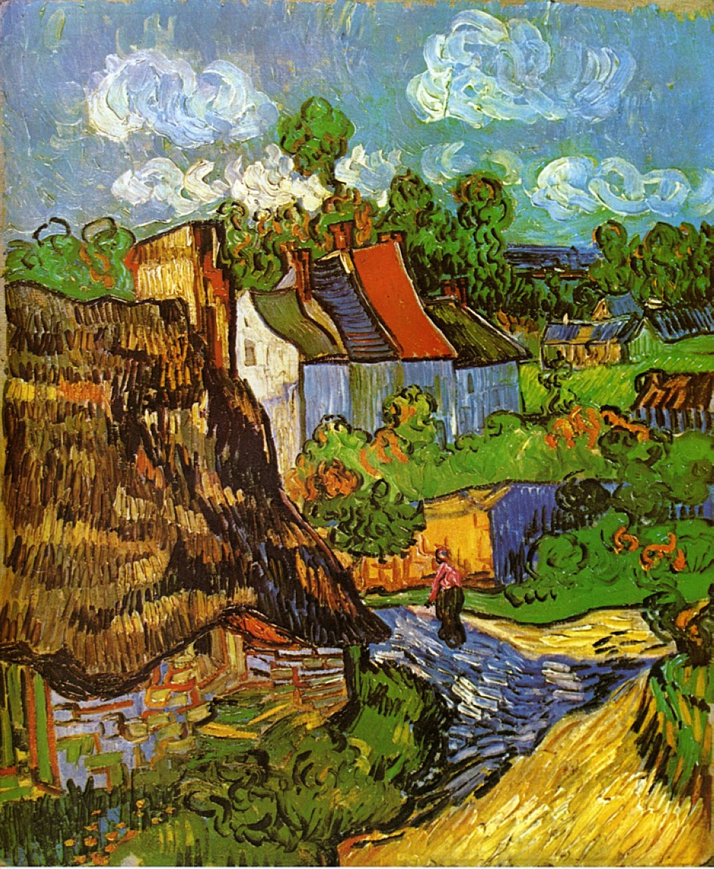 Houses In Auvers 2 1890 Vincent Van Gogh