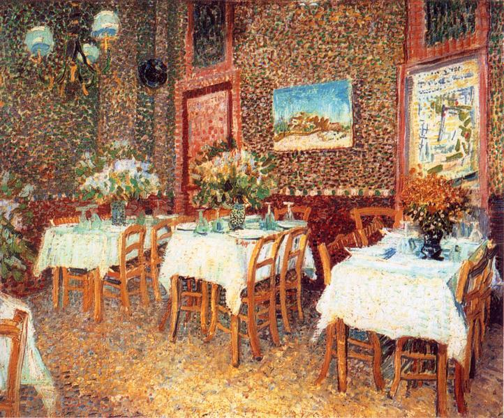 Interior of a Restaurant, 1887 - Vincent van Gogh