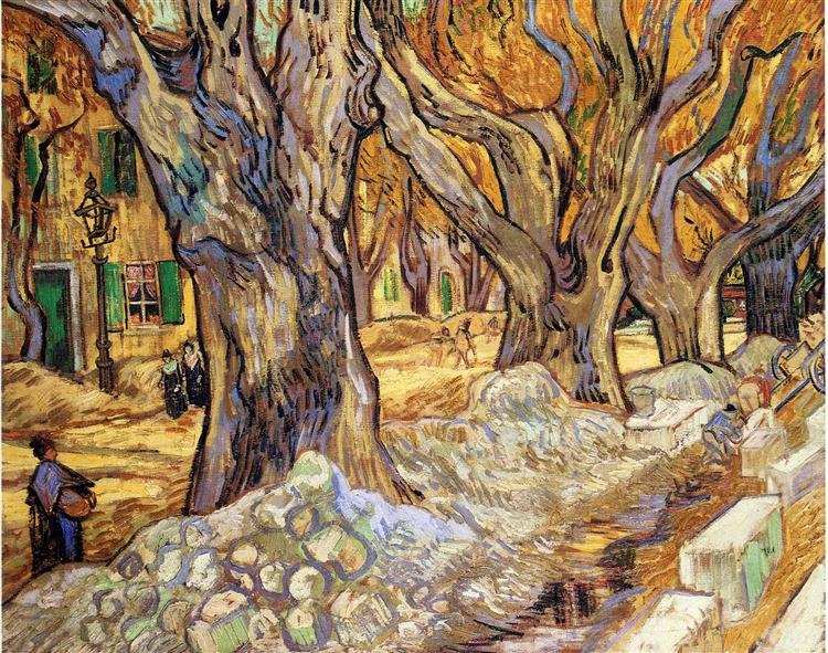 Large Plane Trees, 1889 - Vincent van Gogh