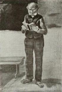 Man, Standing, Reading a Book - Vincent van Gogh