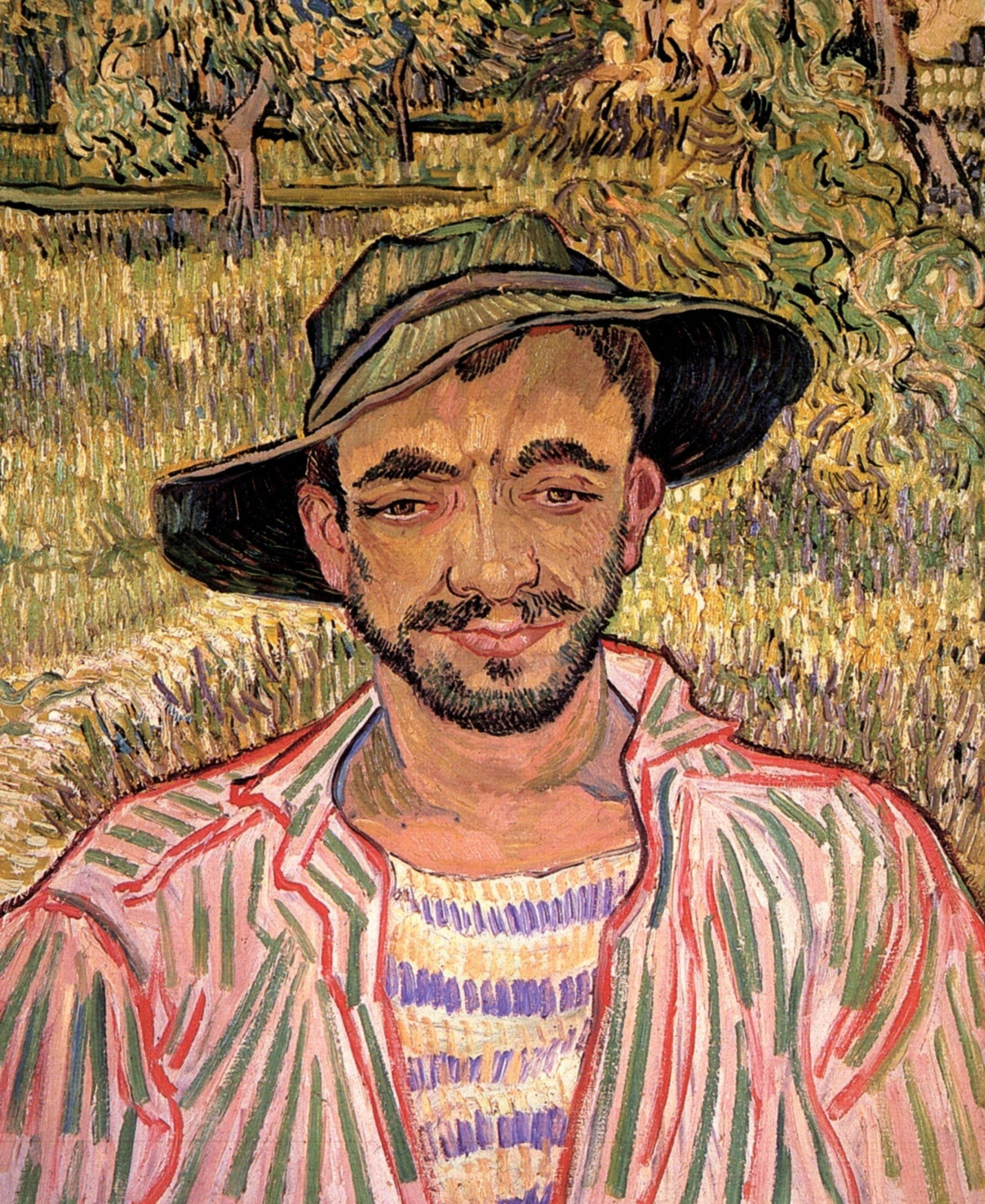 Portrait of a Young Peasant, 1889 - Vincent van Gogh - WikiArt.org