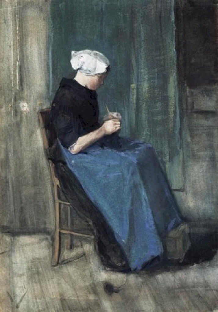 Scheveningen Woman Knitting, 1881