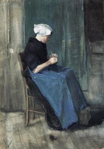 Scheveningen Woman Knitting - Vincent van Gogh
