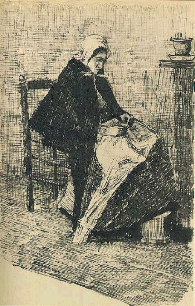 Scheveningen Woman Sewing, 1881
