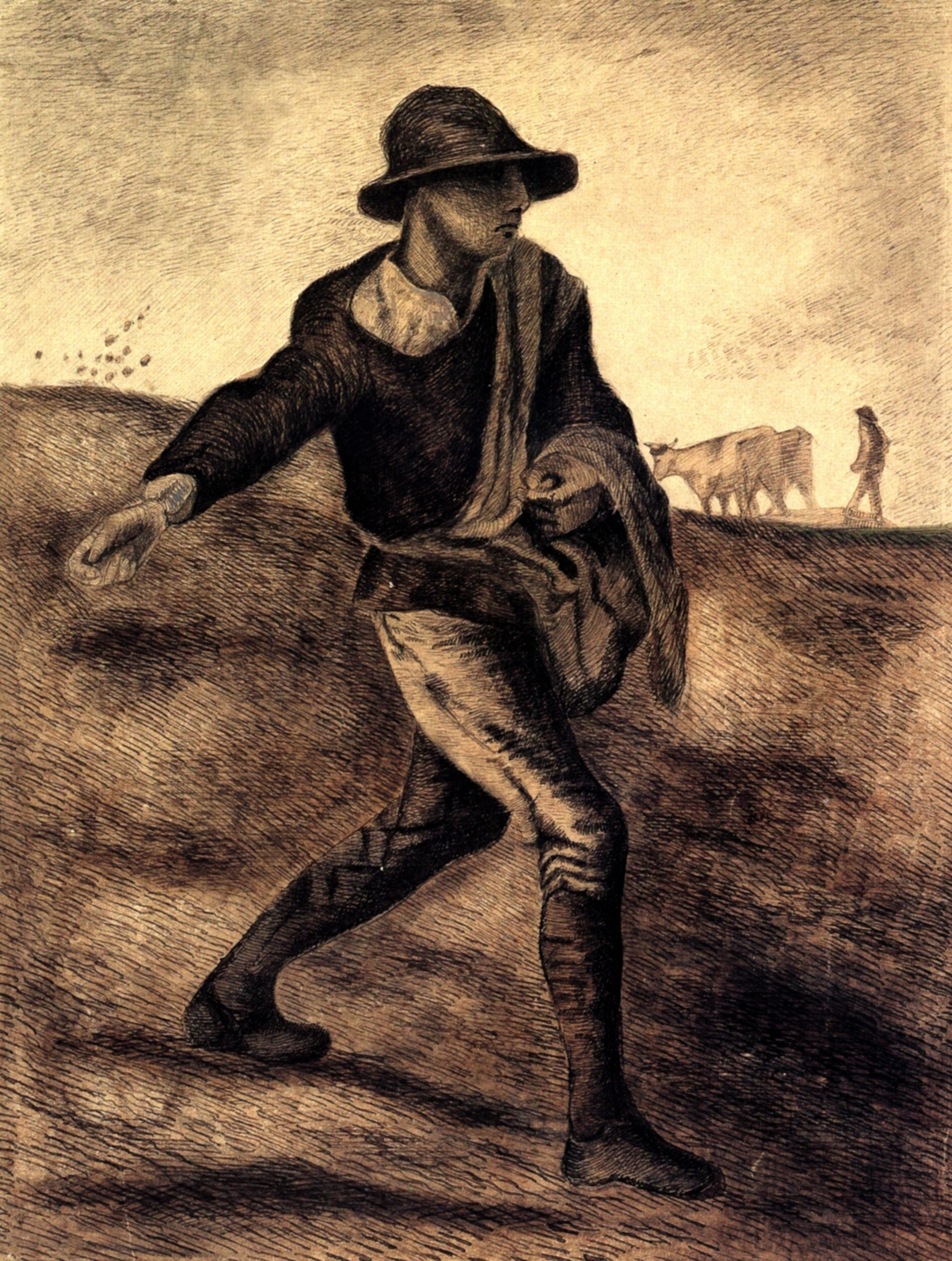 Sower (after Millet), 1881