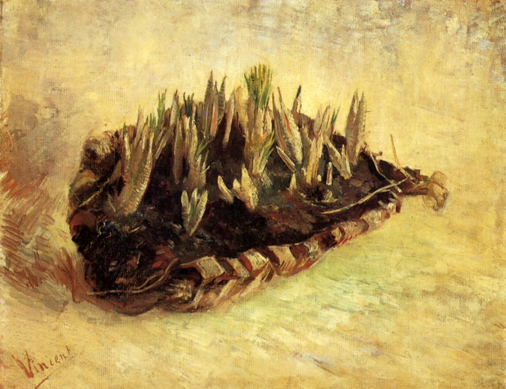 still life with a basket of crocuses 1887 vincent van gogh. Black Bedroom Furniture Sets. Home Design Ideas