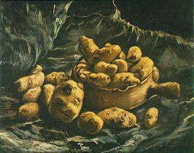 Todavía vida con un cuenco y patatas earthern, Vincent van Gogh