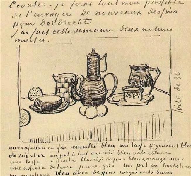 Still Life with Coffee Pot, 1888 - Vincent van Gogh