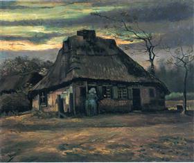 sombreros de paja en la oscuridad, Vincent van Gogh