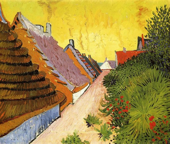 Street in Saintes-Maries, 1888 - Vincent van Gogh