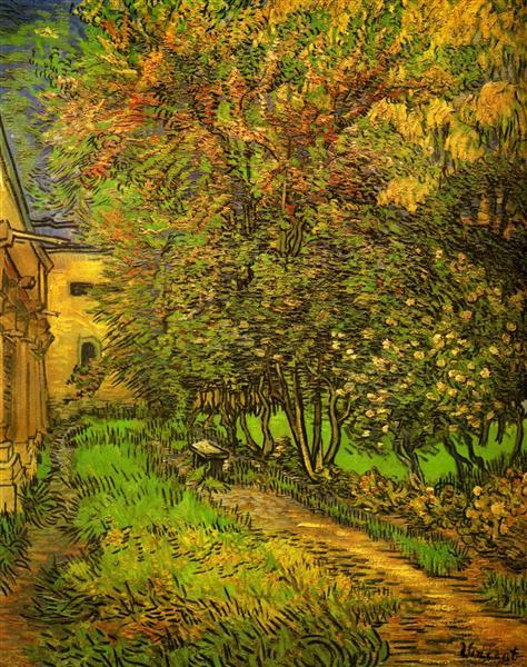 The Garden of Saint-Paul Hospital, 1889 - Vincent van Gogh