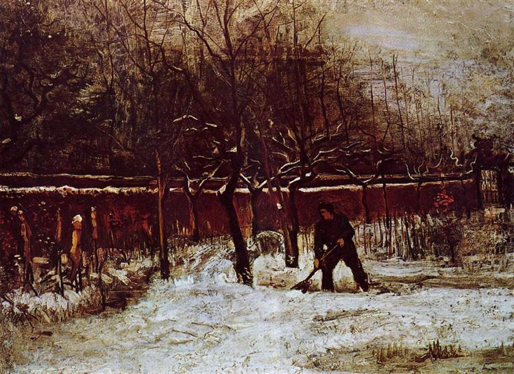 The Parsonage Garden at Nuenen in the Snow, 1885 - Vincent van Gogh
