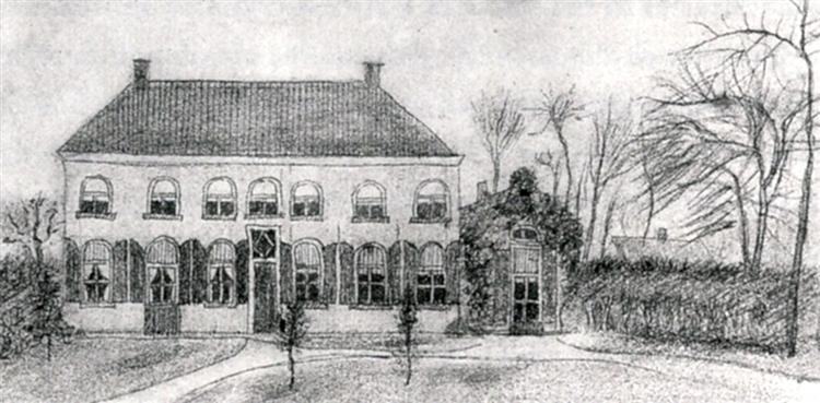 Vicarage at Etten, 1876 - 梵谷