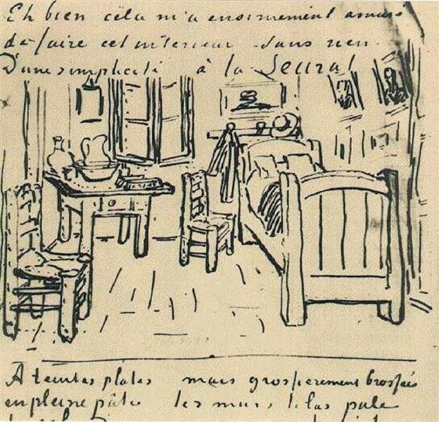 Vincent's Bedroom, 1888 - Vincent van Gogh