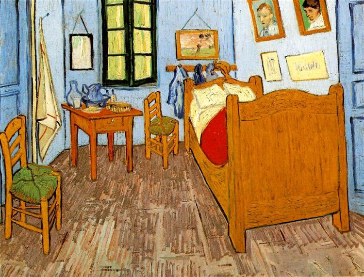 Vincent's Bedroom in Arles, 1889 - Vincent van Gogh