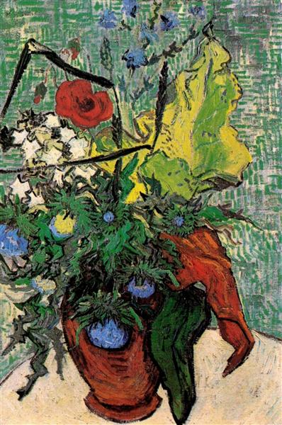 Wild Flowers and Thistles in a Vase, 1890 - Vincent van Gogh