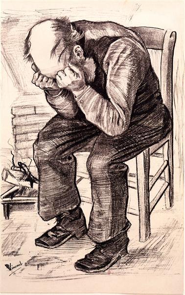 Worn Out, 1882 - Vincent van Gogh