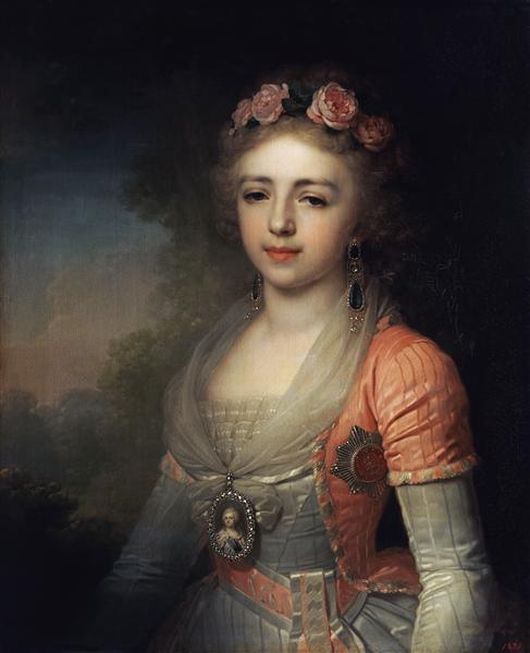 Portrait of Grand Duchess Alexandra - Vladimir Borovikovsky