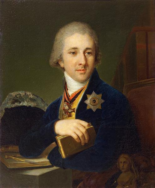 Portrait of the author Alexander Labsin, 1805 - Vladimir Borovikovsky