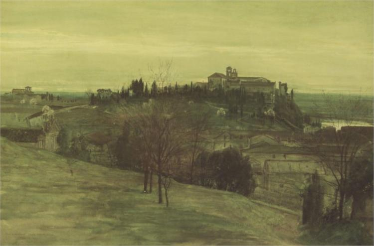 The Aventine from the Palatine, 1873 - Walter Crane