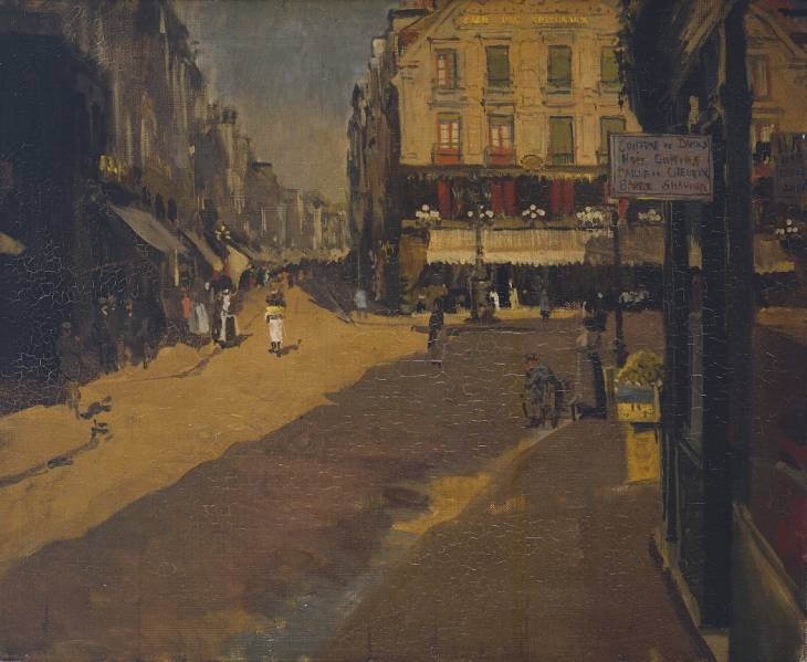 Cafe of the Courts, Dieppe, 1890